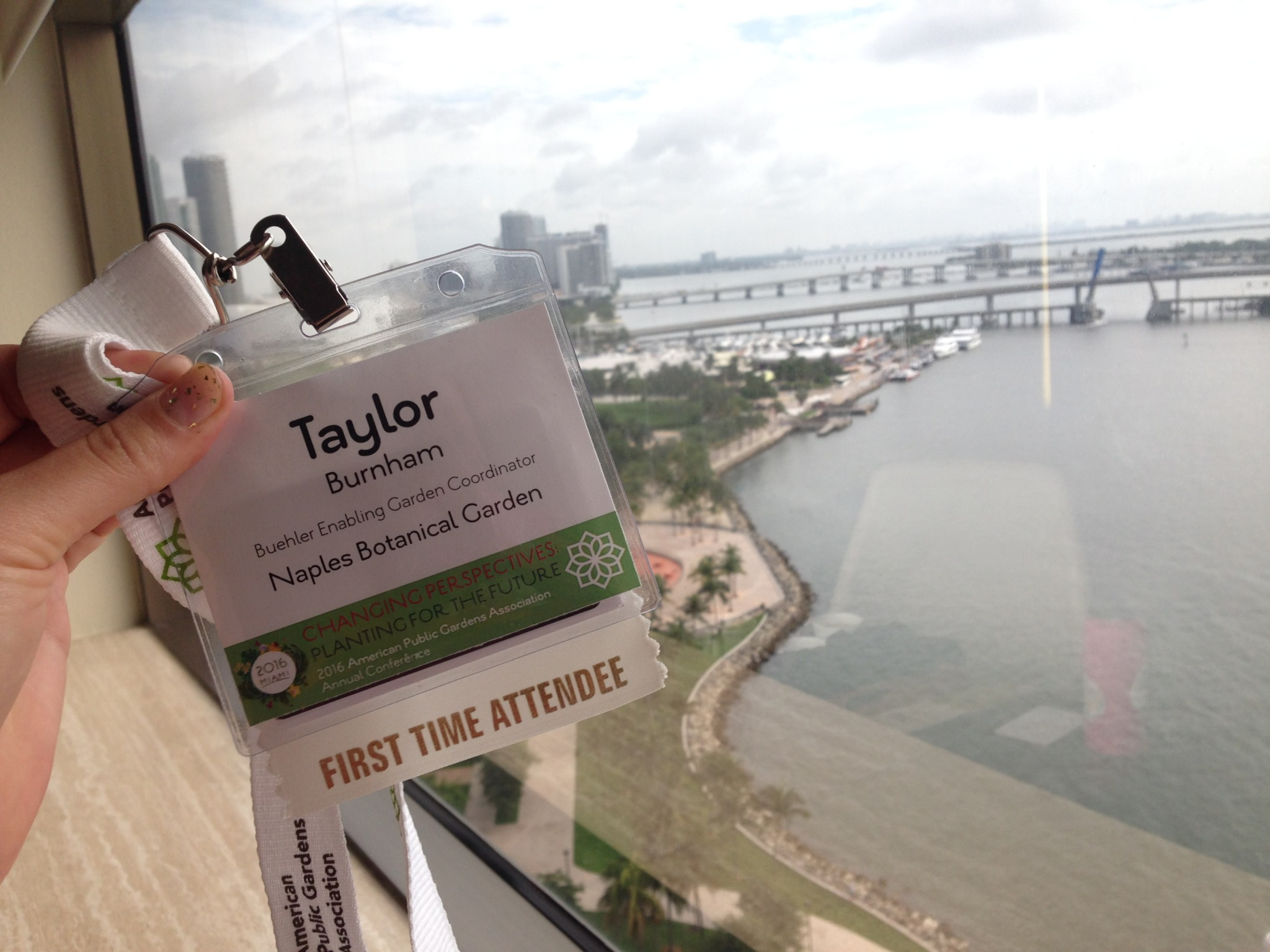 Taylor Burnham Attends the 2016 American Public Gardens Association Conference