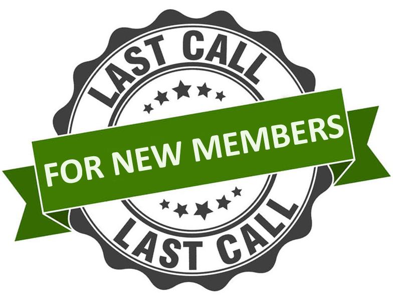 Membership—Last Call for New Member Registration